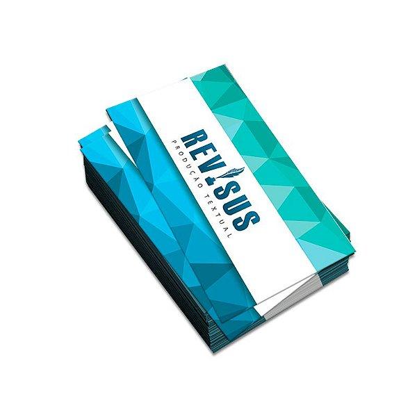 Cartão de Visita Couchê 300G F/V Verniz Total - 1000 UN
