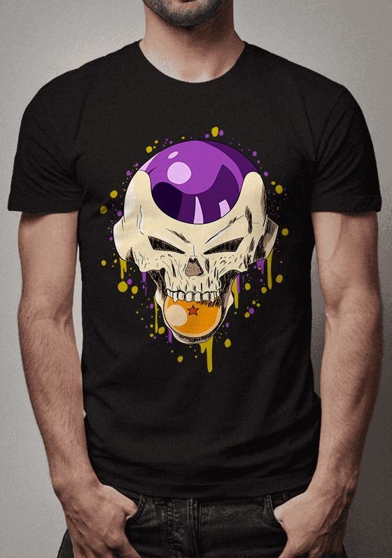 Camiseta Freeza Skull  Dragon Ball
