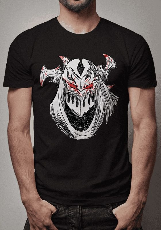 Camiseta Zed Sketch Lines League of Legends