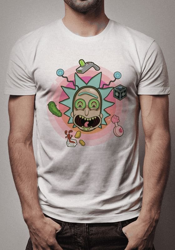 Camiseta Rick World Rick and Morty