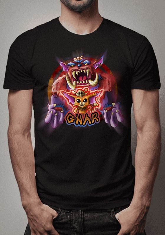 Camiseta Pequeno e Grande Gnar League of Legends