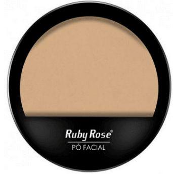 Pó Compacto Facial Ruby Rose Cor Clara 01