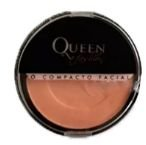 Pó compacto facial cores escuras Queen cor 05