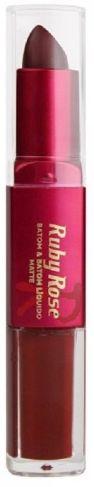 Batom Liquido Matte Ruby Rose HB 8606 Cor 182