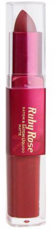 Batom Liquido Matte Ruby Rose HB 8606 Cor 200