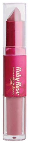 Batom Liquido Matte Ruby Rose HB 8606 COR 288