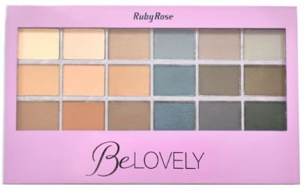Paleta de Sombra Be Lovely Ruby Rose Lançamento