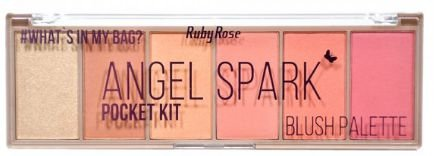 Paleta de Blush iluminador Pocket Angel Spark Ruby Rose