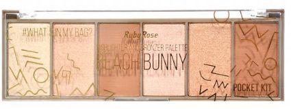 Paleta Iluminador Pocket Beach Bunny Ruby Rose HB 7514