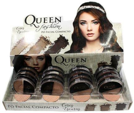 Po compacto facial Queen cores escuras Atacado