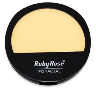 Pó compacto cor 20 facial Ruby Rose cores claras