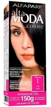 Tinta de cabelo Alta moda N1 preto 150 gramas