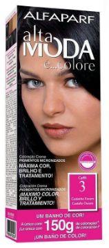 Tinta de cabelo Alta moda N3 castanho escuro 150 gramas