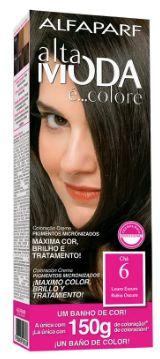 Tinta de cabelo Alta moda N6 louro escuro 150 gramas