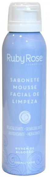 Sabonete Mousse Facial de Limpeza Nuvens de Algodão Ruby Rose HB 320