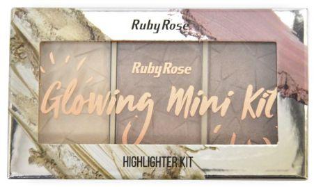 Paleta de Iluminador Glowing 1 Ruby Rose HB 7215