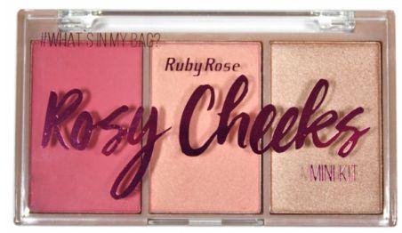 Paleta de Blush Rosy Cheeks Ruby Rose HB 6111-2