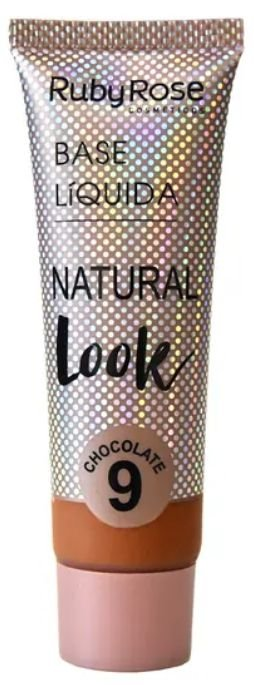 Base líquida natural cor 9 Look Chocolate Ruby Rose