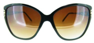 Óculos Acetato Preto c/ branco