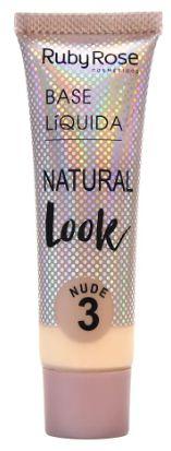 Base liquida natural nude Ruby Rose HB 8051 Cor 3 Nude