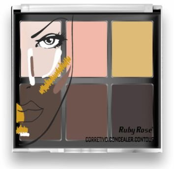 Corretivo Concealer Contour Ruby Rose HB 8088 Light (Kit com 03 unidades) Atacado