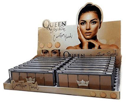 Paleta Atacado Corretivo Facial 05 cores Queen Kit com 03 unidades