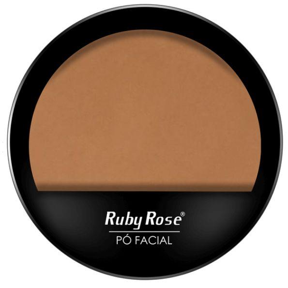 Pó compacto cor 16 facial Ruby Rose cores claras