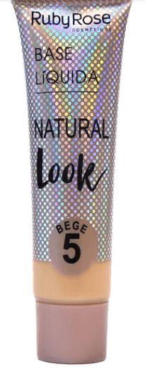 Base líquida natural look bege Cor 5