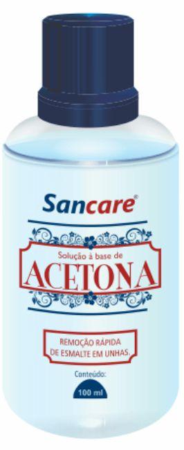Acetona Sancare 100 ml Atacado