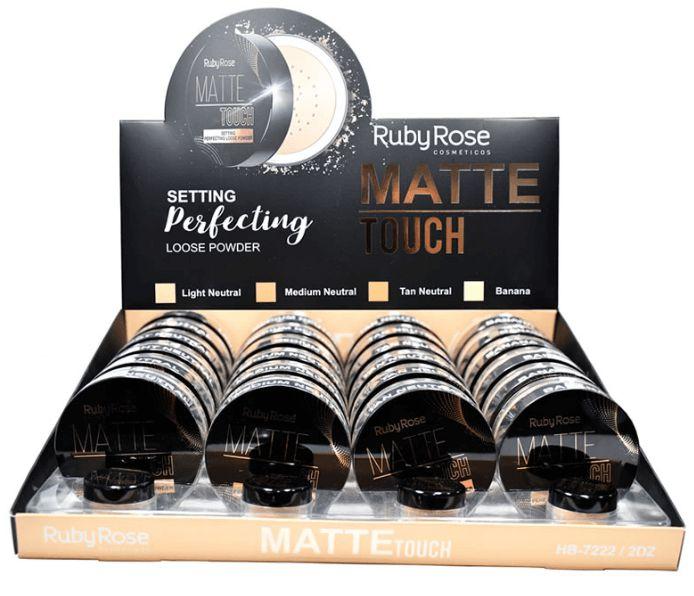 Pó Solto Matte Touch Ruby Rose AtacadoKit com 03 peças