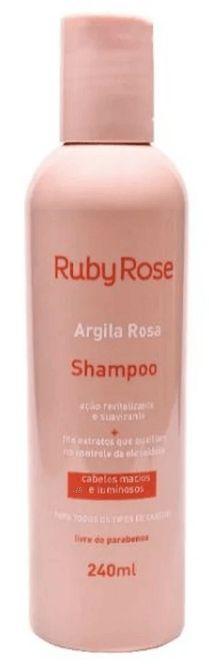 Shampoo Argila Rosa Ruby Rose Atacado Kit com 03 peças