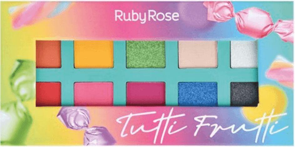 Paleta de Sombras Essência Tutti Frutti Ruby Rose