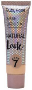 Base líquida cor 7 natural Look Bege Ruby Rose