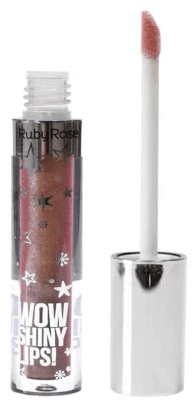 Gloss Labial Wow Shiny Lips Ruby Rose Marrom