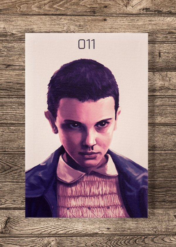 Eleven - Quadro Canvas com bastidor - Stranger Things