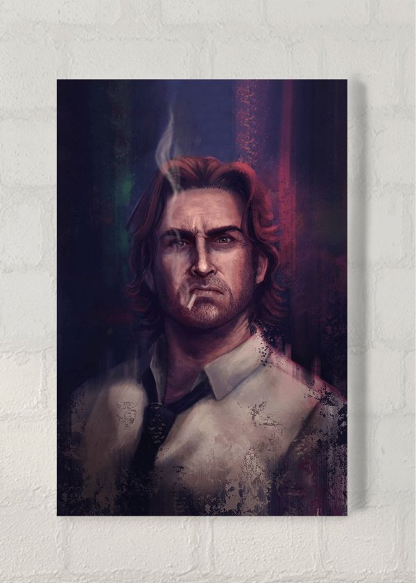 Bigby - Quadro Acrílico - The Wolf Among Us