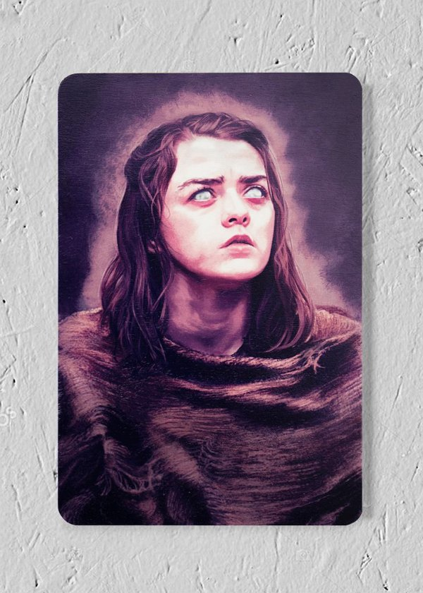 Arya - Quadro Woodprint - Game of Thrones