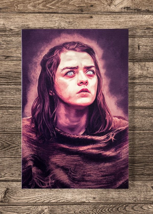 Arya - Quadro Canvas com bastidor - Game of Thrones