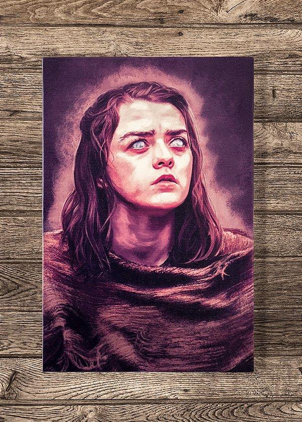 Arya - Quadro Canvas com bastidor - Game of Thrones