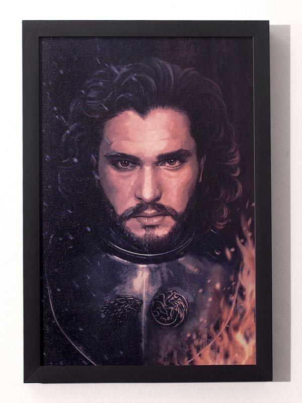 Jon Snow - Quadro Canvas Frame - Game of Thrones