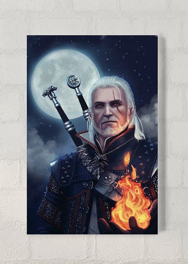 Geralt - Quadro Acrílico - The Witcher