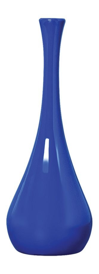 Vaso de Cerâmica Garrafa Azul 13x37cm
