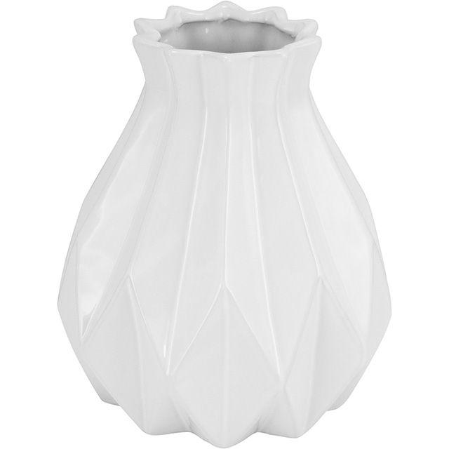 Vaso Cerâmica Enjoy Hype Branco 18x21,5CM