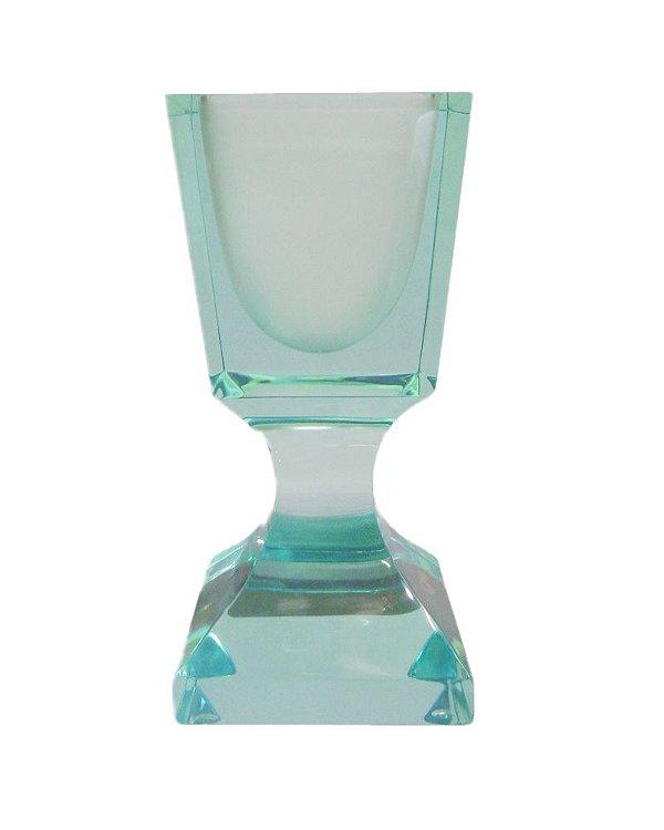 Vaso de Cristal Império Verde