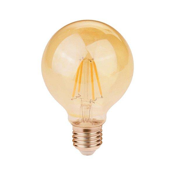 Lâmpada Filamento de LED G80 E27 2W 200LM 2400K Bivolt