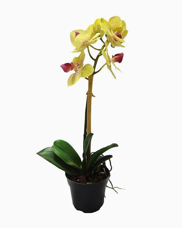 Vaso com Orquidea Amarela 32cm