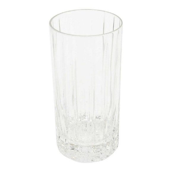 Jogo de 6 Copos de Cristal Cilindrico Alto com Relevo