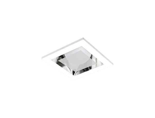 Luminária de Embutir Quadrada 11x11cm Moldura e Refletor Alumínio