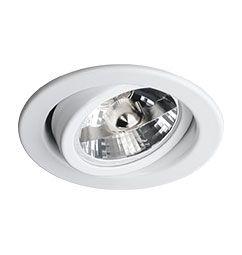 Spot Embutido Circular Direcionável para Lâmpada AR70