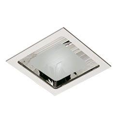 Luminária de Embutir 22x22cm 1xE27/UN-4p